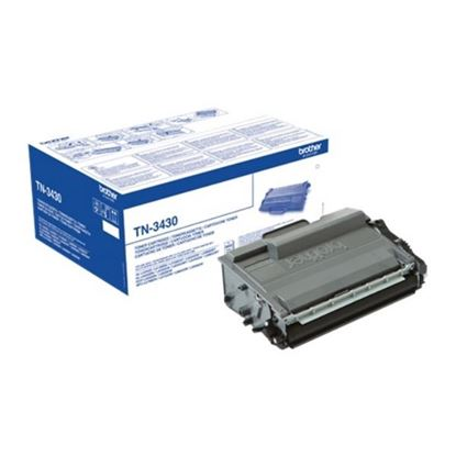 Picture of Brother TN-3430 Black Original Toner Cartridge (TN3430 Laser Toner)