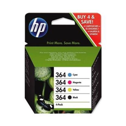 Picture of HP 364 Black, Cyan, Magenta, Yellow Original Ink Cartridge Multipack