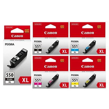 Picture of Canon PGI-550XL Black & CLI-551XL Black, Cyan, Magenta, Yellow Original Ink Cartridge Multipack