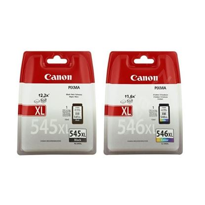 Picture of Canon PG-545XL Black & CL-546XL Colour Original Ink Cartridge Combo Pack