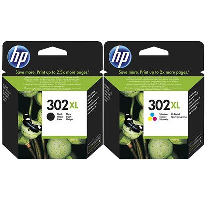 Picture of HP 302XL Black & Colour Original Ink Cartridge Combo Pack