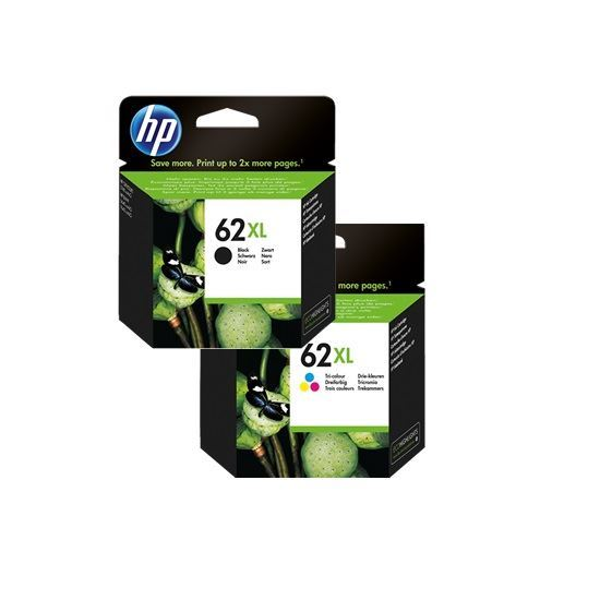 Picture of HP 62XL Black & Colour Original Ink Cartridge Combo Pack