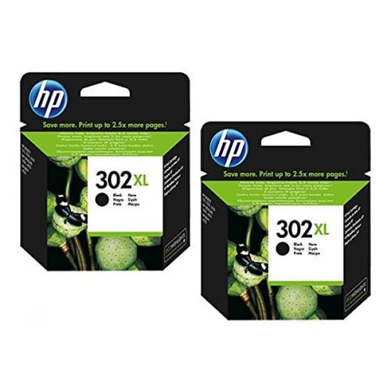 Picture of HP 302XL Black Original Ink Cartridge Twin Pack