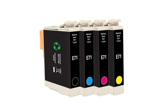 Picture of Red Bus Recycled Epson T0715 Black, Cyan, Magenta, Yellow Ink Cartridge Multipack