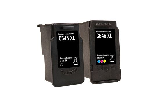 Picture of Red Bus Recycled Canon PG-545XL Black & CL-546XL Colour Ink Cartridge Combo Pack