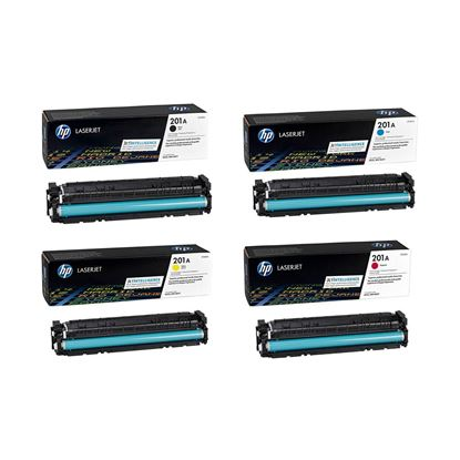 Picture of HP 201A Black, Cyan, Magenta, Yellow Original Toner Cartridge Multipack (CF400/1/2/3A Laser Toner)