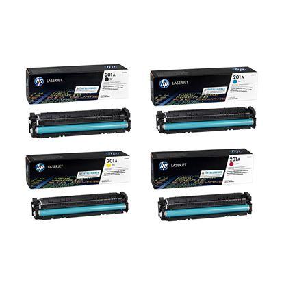 Picture of HP 201A Black, Cyan, Magenta, Yellow Original Toner Cartridge Multipack (CF400/1/2/3A Laser Toner)