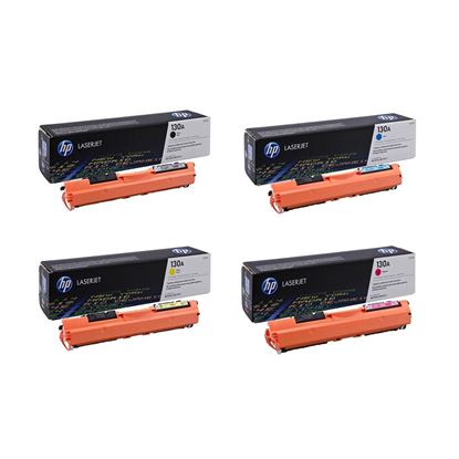 Picture of HP 130A Black, Cyan, Magenta, Yellow Original Toner Cartridge Multipack (CF350/1/2/3A Laser Toner)