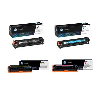 Picture of HP 131A/X Black, Cyan, Magenta, Yellow Original Toner Cartridge Multipack (CF210X/1/2/3A Laser Toner)