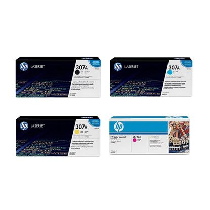 Picture of HP 307A Black, Cyan, Magenta, Yellow Original Toner Cartridge Multipack (CE740/1/2/3A Laser Toner)