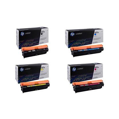 Picture of HP 651A Black, Cyan, Magenta, Yellow Original Toner Cartridge Multipack (CE340/1/2/3A Laser Toner)