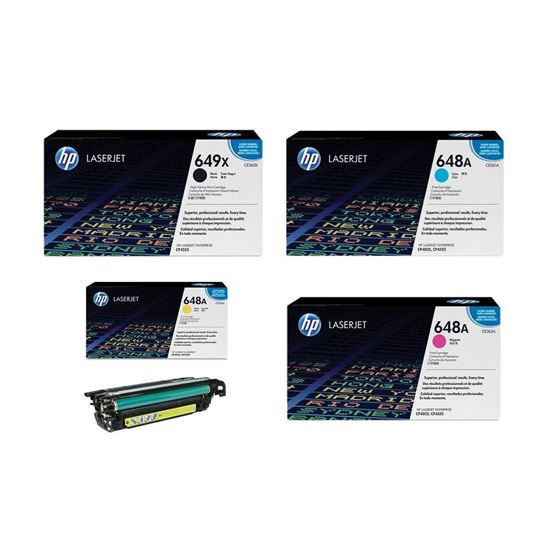 Picture of HP 649X/648A Black, Cyan, Magenta, Yellow Original Toner Cartridge Multipack (CE260X/1/2/3A Laser Toner)