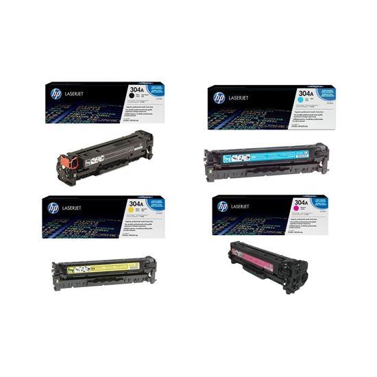 Picture of HP 304A Black, Cyan, Magenta, Yellow Original Toner Cartridge Multipack (CC530/1/2/3A Laser Toner)