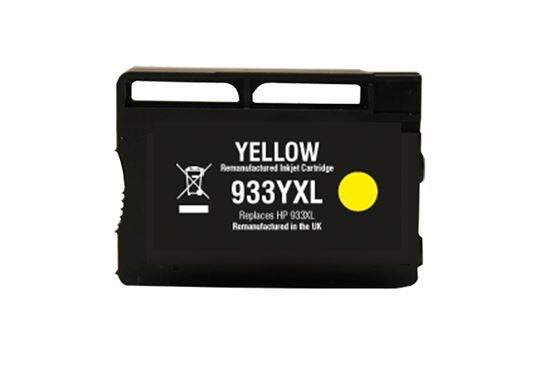 Picture of Red Bus Recycled 933XL High Yield Yellow (CN056AE) Ink Cartridge (suitable for use in HP printers)