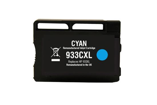 Picture of Red Bus Recycled 933XL High Yield Cyan (CN054AE) Ink Cartridge (suitable for use in HP printers)