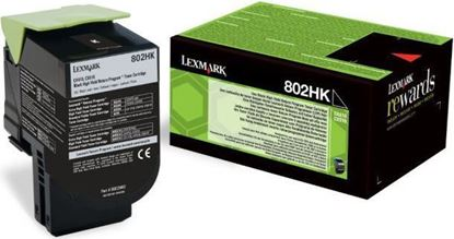 Picture of Lexmark 80C2HK0 High Yield Black Original Toner Cartridge (802HK Laser Toner)