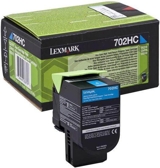 Picture of Lexmark 70C2HC0 High Yield Cyan Original Toner Cartridge (702HC Laser Toner)