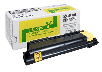 Picture of Kyocera TK-590Y Yellow Original Toner Cartridge (TK590Y Laser Toner)