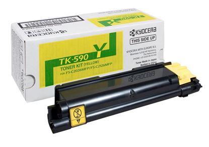 Picture of Kyocera TK-590Y Yellow Original Toner Cartridge (TK590Y Laser Toner)