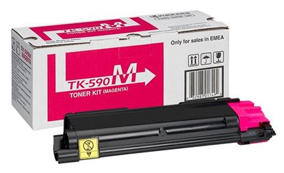 Picture of Kyocera TK-590M Magenta Original Toner Cartridge (TK590M Laser Toner)