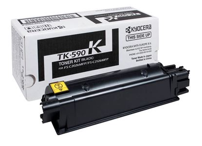 Picture of Kyocera TK-590K Black Original Toner Cartridge (TK590K Laser Toner)