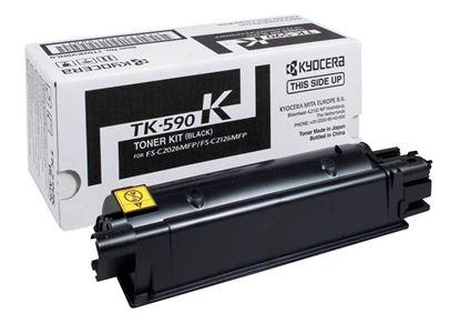 Picture of Kyocera TK-590K Black Original Toner Cartridge (TK590K Laser Toner)