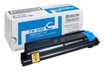 Picture of Kyocera TK-590C Cyan Original Toner Cartridge (TK590C Laser Toner)