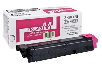 Picture of Kyocera TK-580M Magenta Original Toner Cartridge (TK580M Laser Toner)