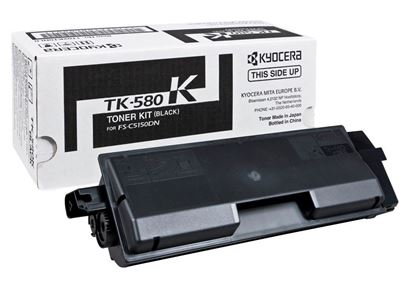 Picture of Kyocera TK-580K Black Original Toner Cartridge (TK580K Laser Toner)