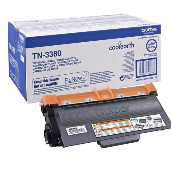 Picture of Brother TN-3380 High Yield Black Original Toner Cartridge (TN3380 Laser Toner)