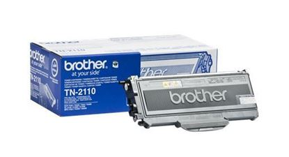 Picture of Brother TN-2110 Black Original Toner Cartridge (TN2110 Laser Toner)