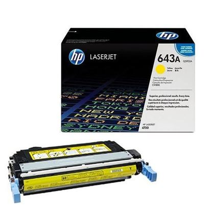 Picture of HP 643A Yellow Original Toner Cartridge (Q5952A Laser Toner)