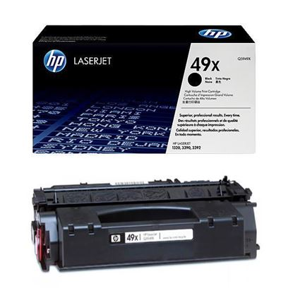 Picture of HP 49X High Yield Black Original Toner Cartridge (Q5949X Laser Toner)