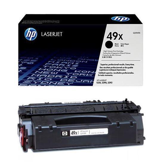 Picture of HP 49X High Yield Black Original Toner Cartridge (Q5949X Laser Toner)