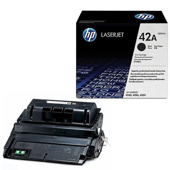 Picture of HP 42A Black Original Toner Cartridge (Q5942A Laser Toner)
