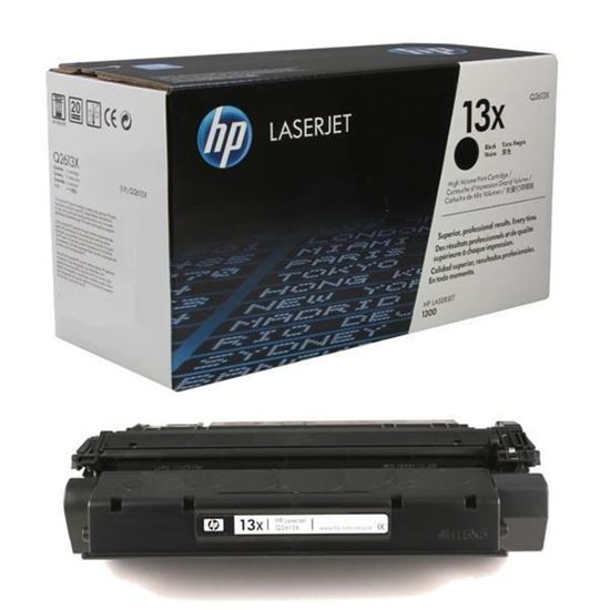 Picture of HP 13X High Yield Black Original Toner Cartridge (Q2613X Laser Toner)