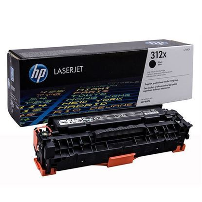 Picture of HP 312X High Yield Black Original Toner Cartridge (CF380X Laser Toner)