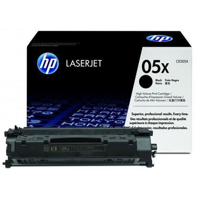 Picture of HP 05X High Yield Black Original Toner Cartridge (CE505X Laser Toner)