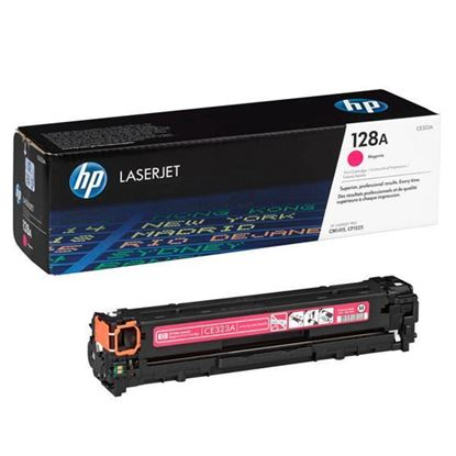 Picture of HP 128A Magenta Original Toner Cartridge (CE323A Laser Toner)
