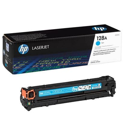Picture of HP 128A Cyan Original Toner Cartridge (CE321A Laser Toner)