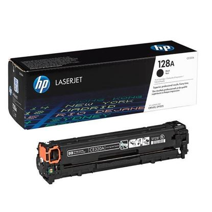 Picture of HP 128A Black Original Toner Cartridge (CE320A Laser Toner)