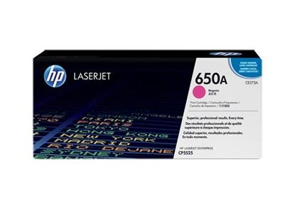 Picture of HP 650A Magenta Original Toner Cartridge (CE273A Laser Toner)