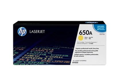 Picture of HP 650A Yellow Original Toner Cartridge (CE272A Laser Toner)