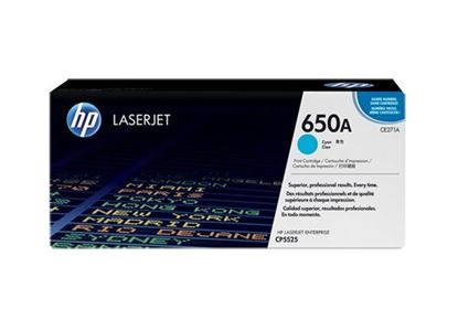 Picture of HP 650A Cyan Original Toner Cartridge (CE271A Laser Toner)