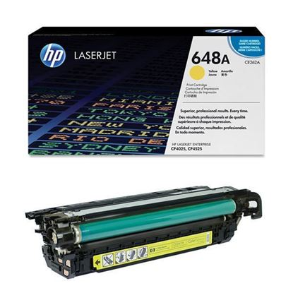 Picture of HP 648A Yellow Original Toner Cartridge (CE262A Laser Toner)