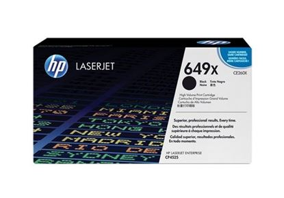 Picture of HP 649X High Yield Black Original Toner Cartridge (CE260X Laser Toner)