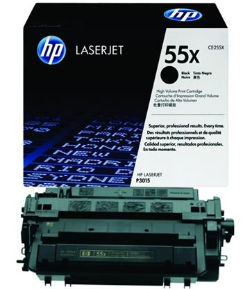 Picture of HP 55X High Yield Black Original Toner Cartridge (CE255X Laser Toner)