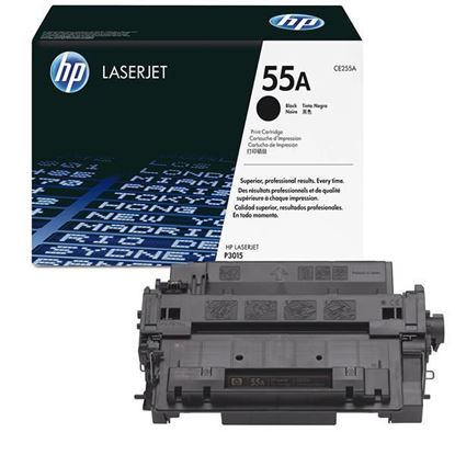 Picture of HP 55A Black Original Toner Cartridge (CE255A Laser Toner)