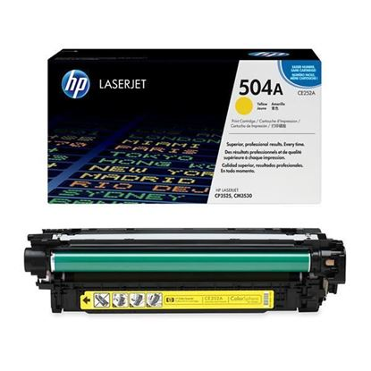 Picture of HP 504A Yellow Original Toner Cartridge (CE252A Laser Toner)