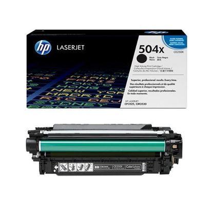 Picture of HP 504X High Yield Black Original Toner Cartridge (CE250X Laser Toner)